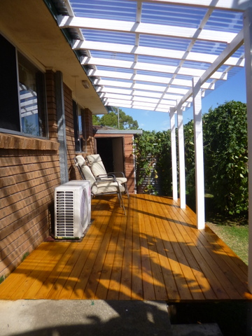 After deck oiling
