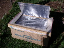 Cardboard boxes can make a solar oven